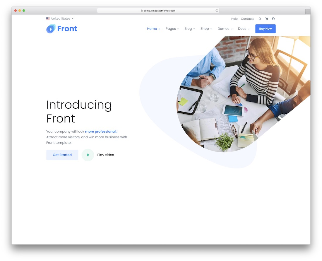 front bootstrap theme