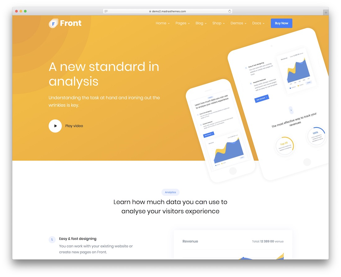 front consulting website template