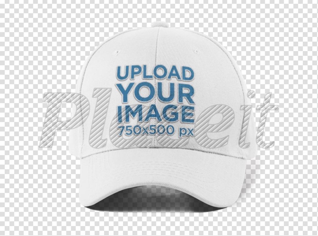 front view of a baseball cap mockup