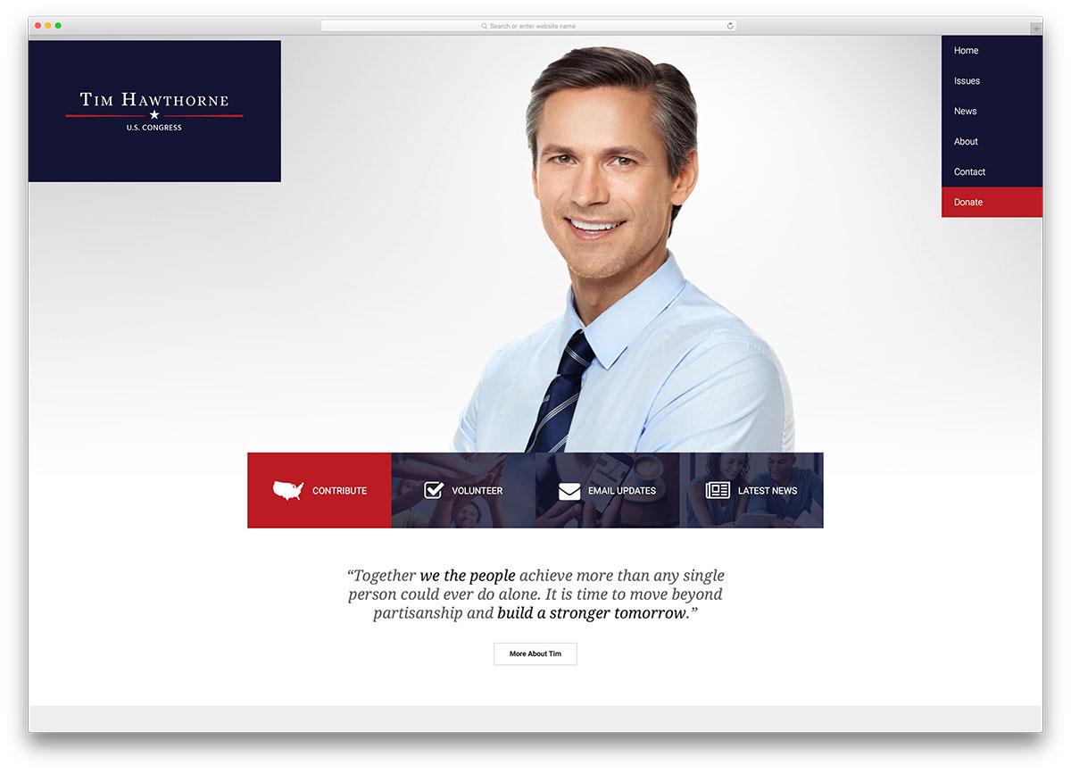 frontrunner-minimal-candidate-wordpress-theme