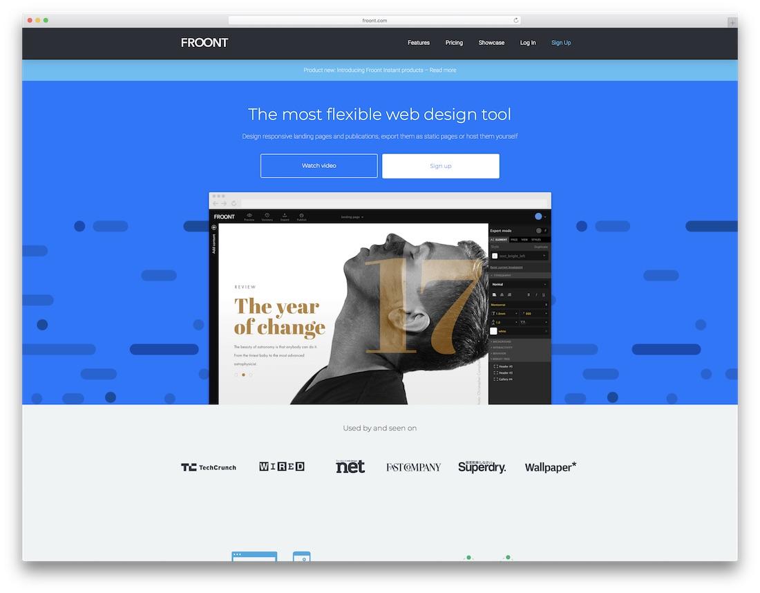 froont website builder for designers