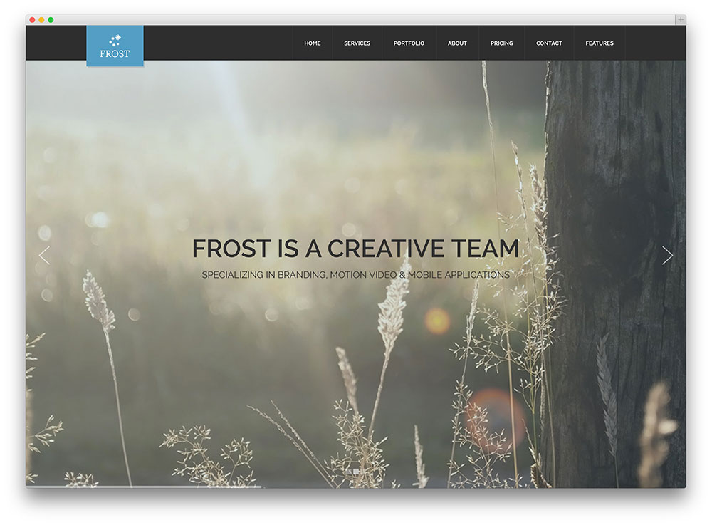 frost imaginative fullscreen art theme