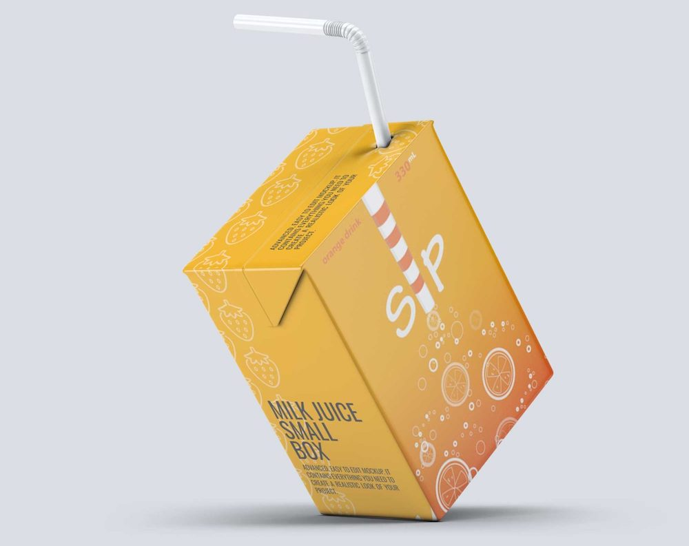 maquettes d'emballage de jus de fruits