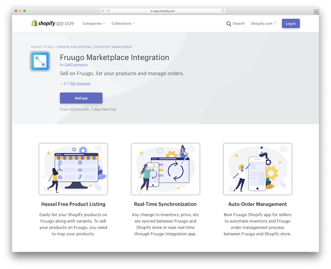 fruugo shopify marketplace app