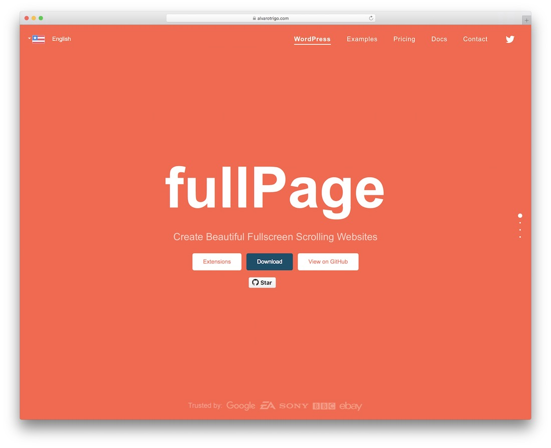 fullpage jquery plugin