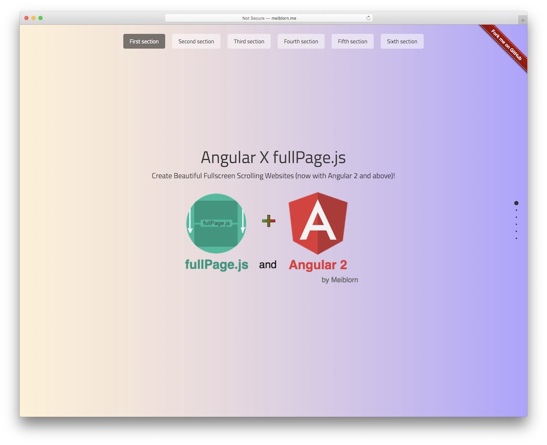 fullpage js integration for angular 2