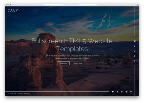 Fullscreen Html5 Website Templates