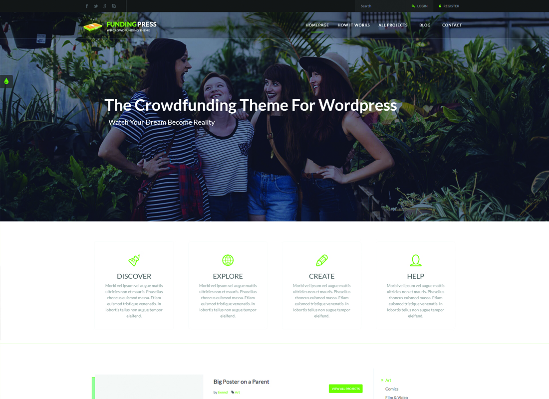 Fundingpress | The Crowdfunding WordPress Theme