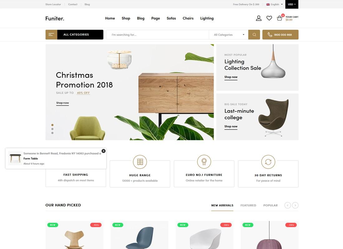 Funiter | Elegant Furniture Shop WooCommerce WordPress Theme
