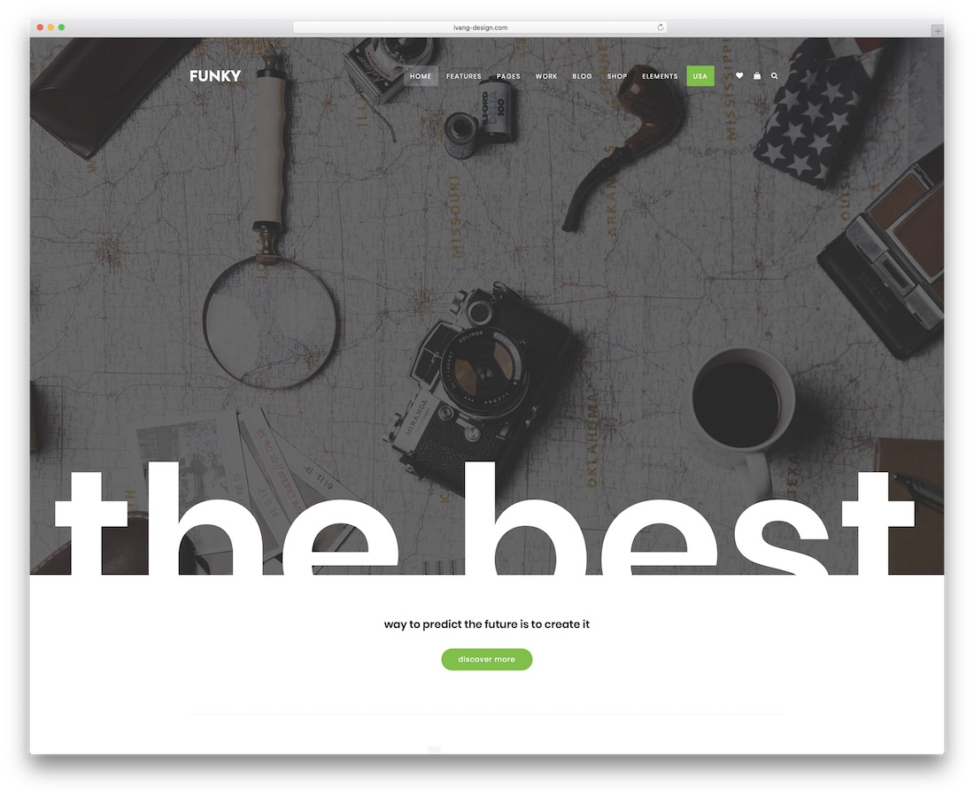 funky creative website template