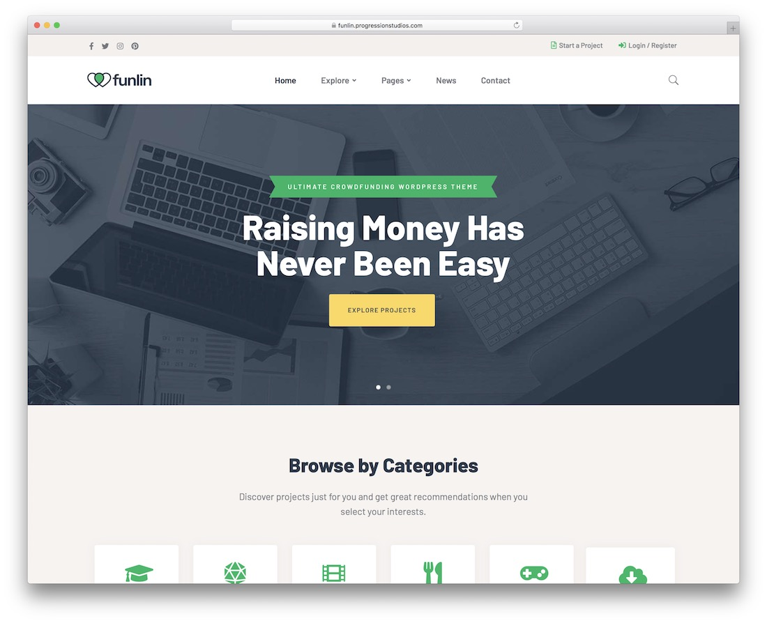 funlin charity website template
