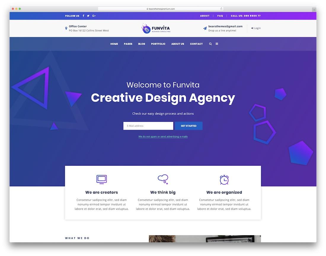 funvita creative wordpress theme