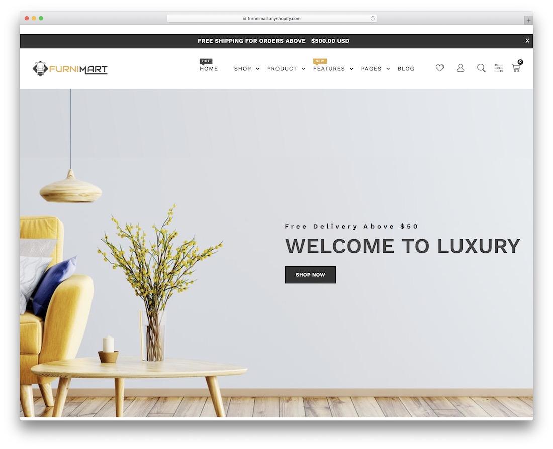 furnimart minimal shopify theme