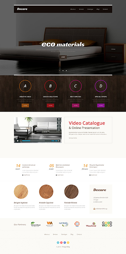 Interior Design Responsive WordPress Theme. 20 New Professional Furniture WordPress Themes 2017   Colorlib