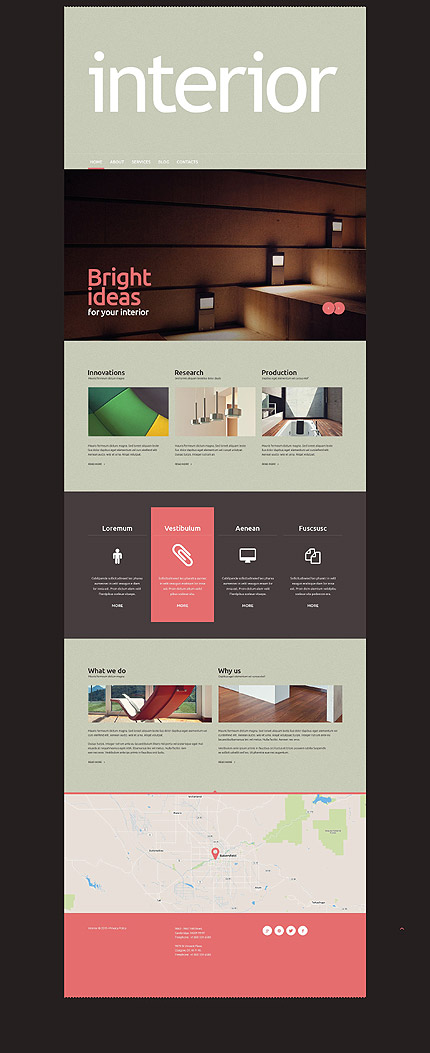 Interior WordPress Template