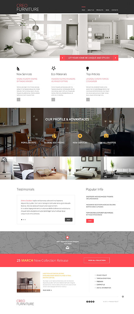 Furniture Responsive WordPress Theme. 20 New Professional Furniture WordPress Themes 2017   Colorlib