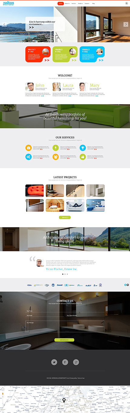 Interior WordPress Theme. 20 New Professional Furniture WordPress Themes 2017   Colorlib