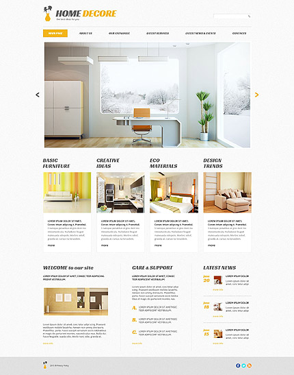Home Decor Tema WordPress yang Responsif