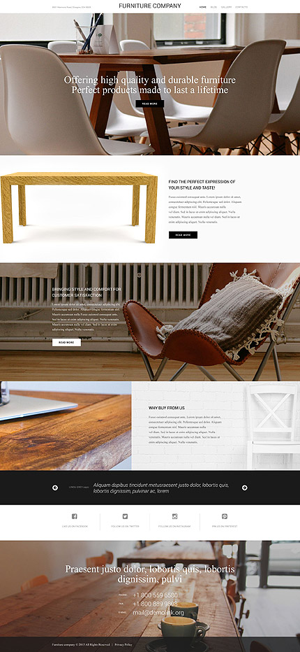 furniture websites design designer. furniture wordpress theme websites design designer