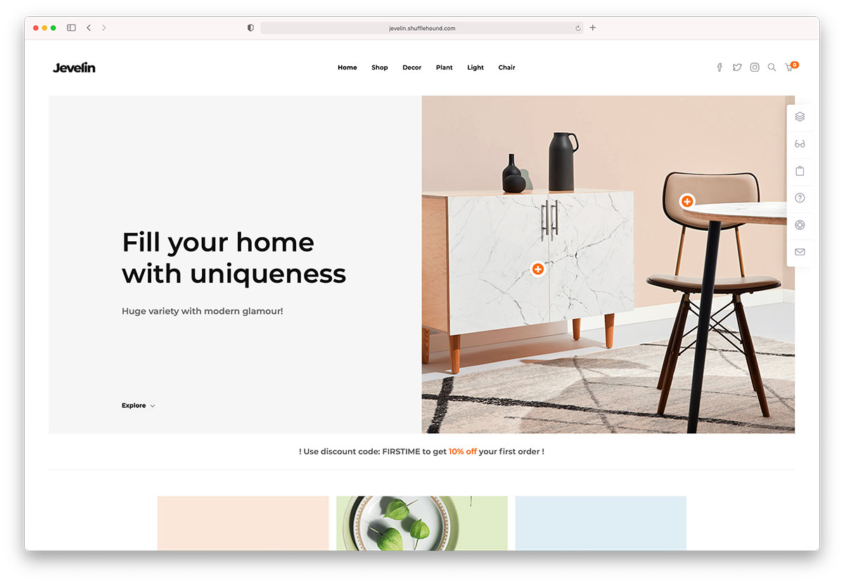 jevelin - furniture WordPress theme