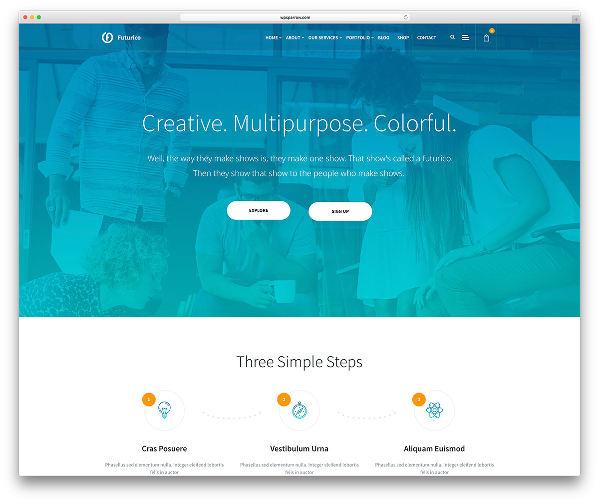 20 best small business wordpress themes 2017 colorlib futurico is a multipurpose wordpress theme with orientations for businesses it has numerous homepages and lots of easy steps this theme is made to build pronofoot35fo Gallery