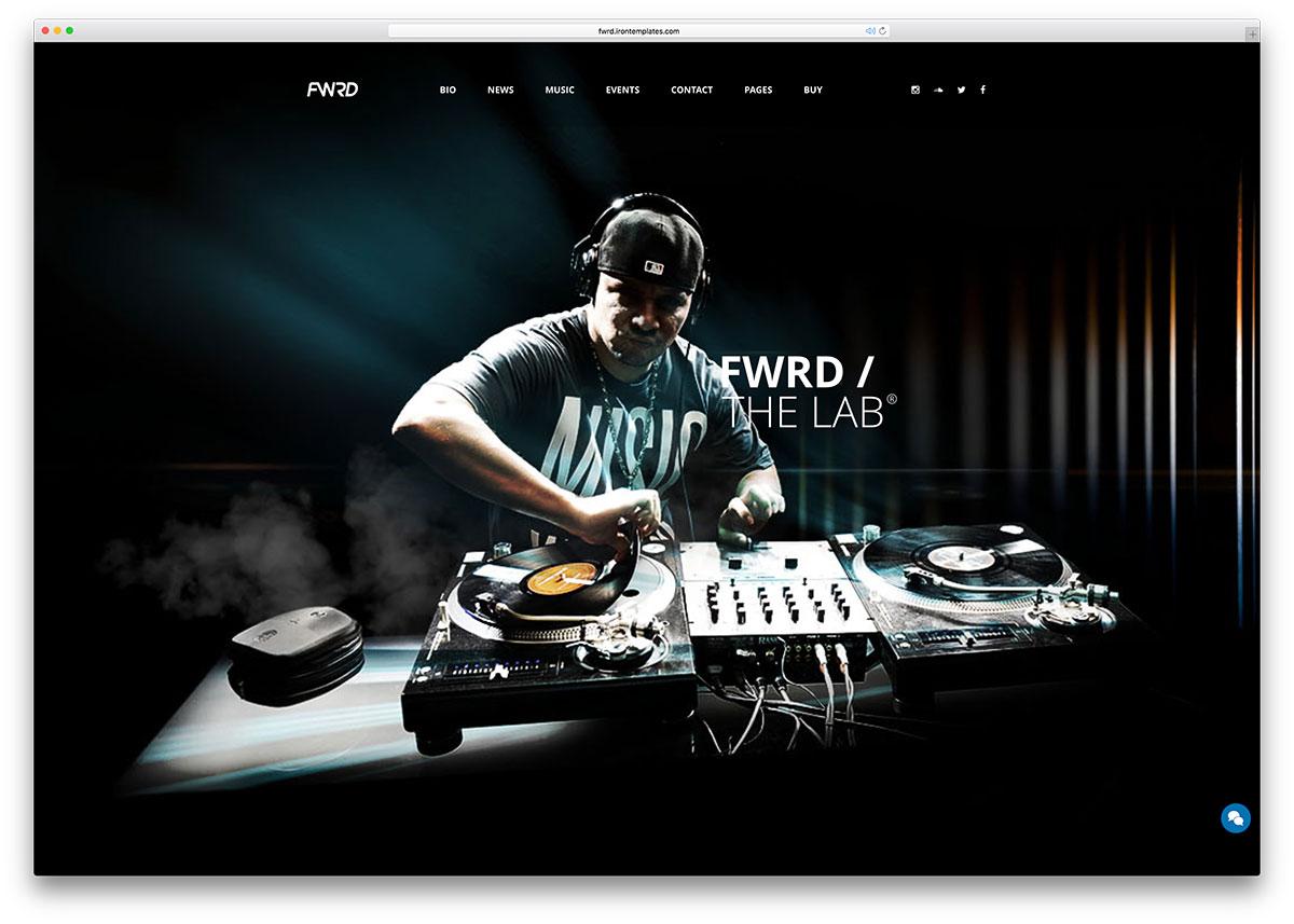 fwrd-creative-music-wordpress-theme