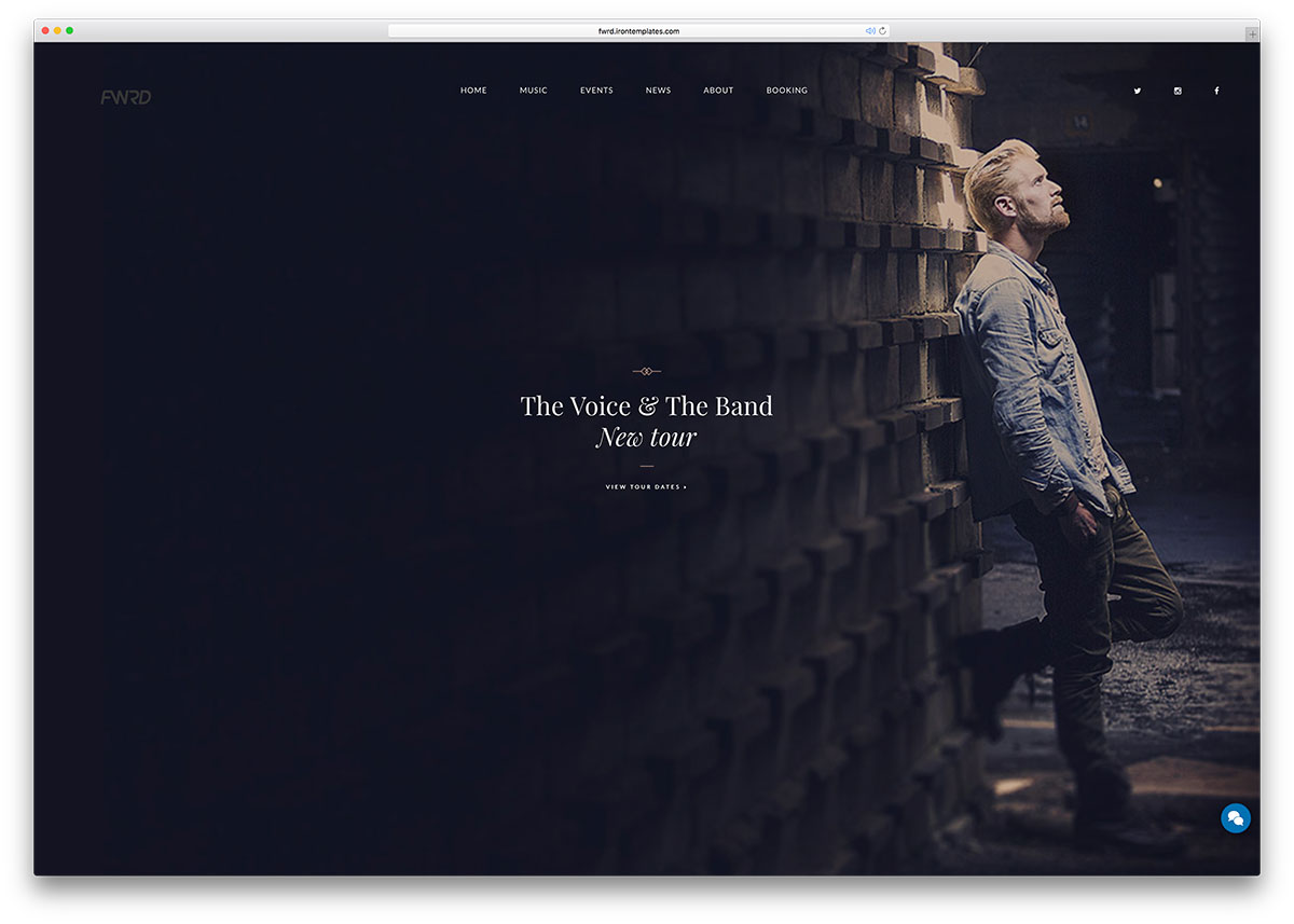 25 of the best wordpress themes for musicians 2018 colorlib ForThe Best Artist Websites