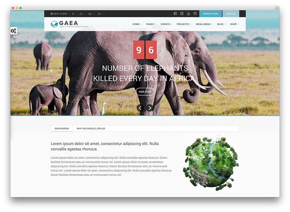 gaea environmental eco wordpress theme