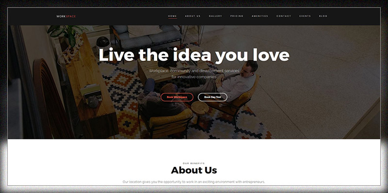 WorkSpace - Creative CoWorking Office WordPress Theme