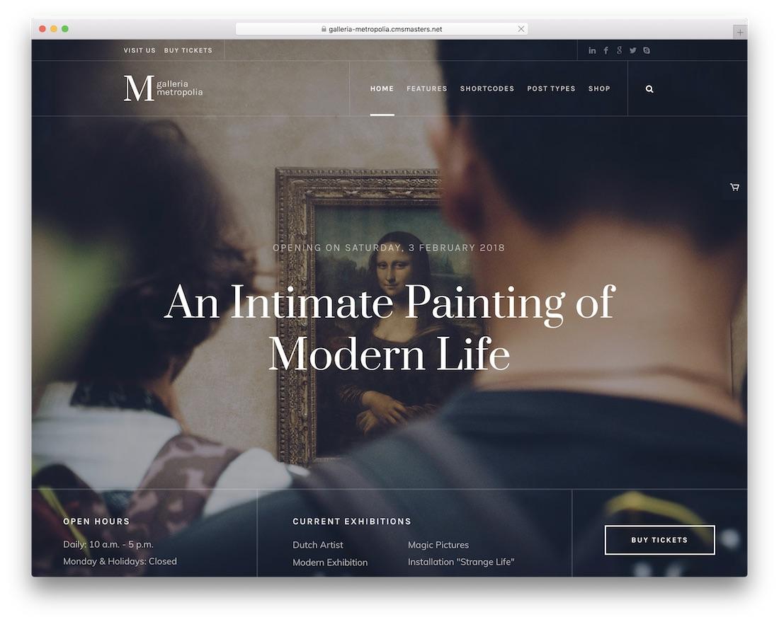 galleria metropolia art wordpress theme