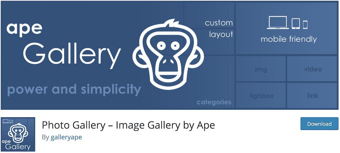 gallery images ape free wordpress plugin