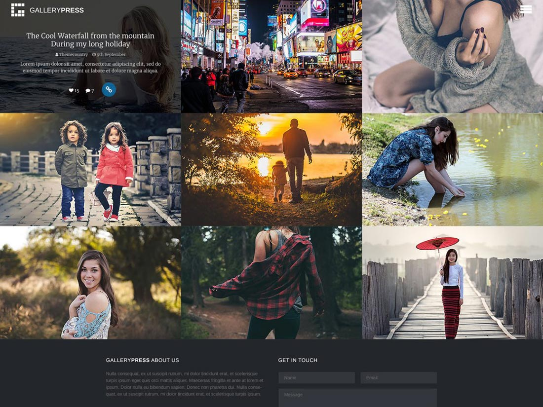 free gallery wordpress theme