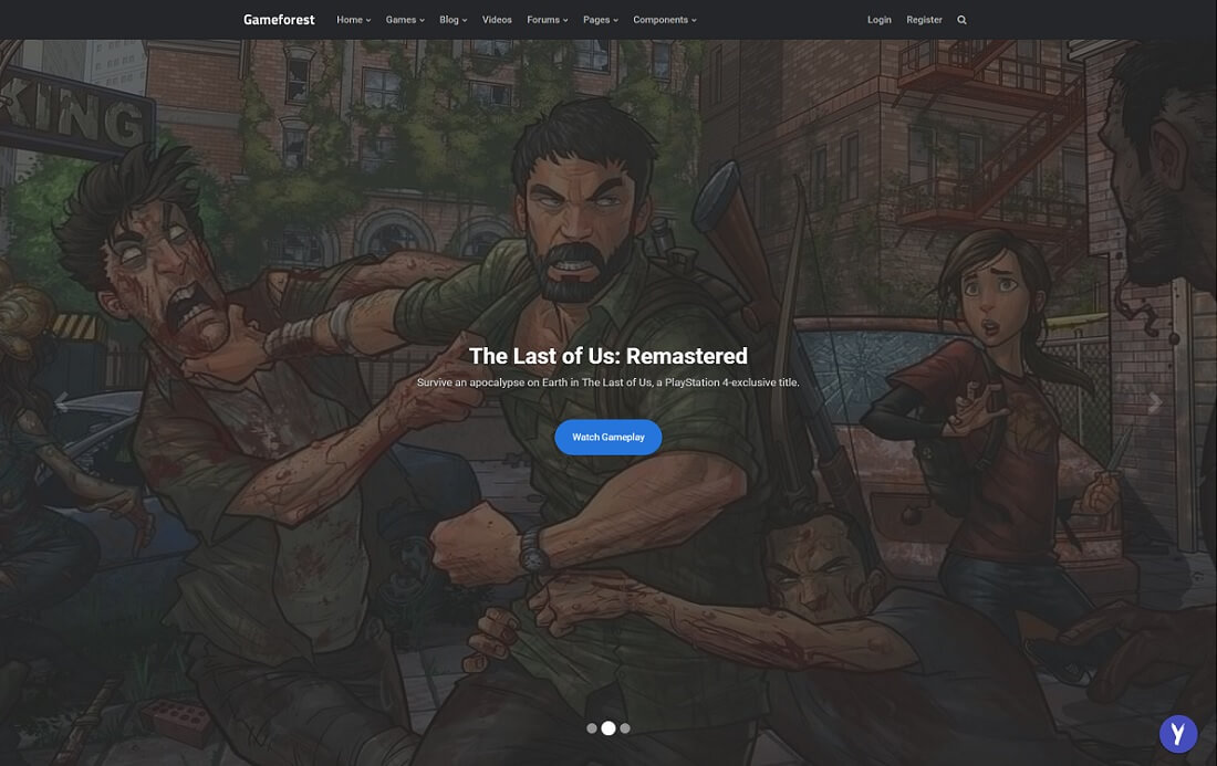 game forest gaming HTML website template