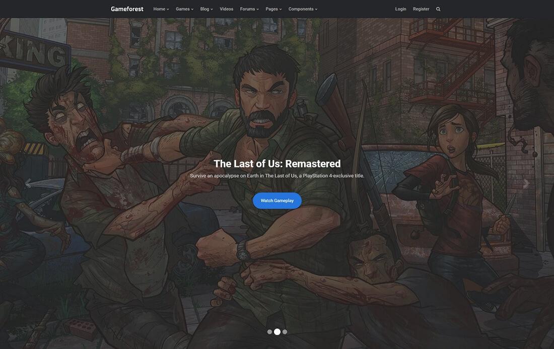 gameforest website template