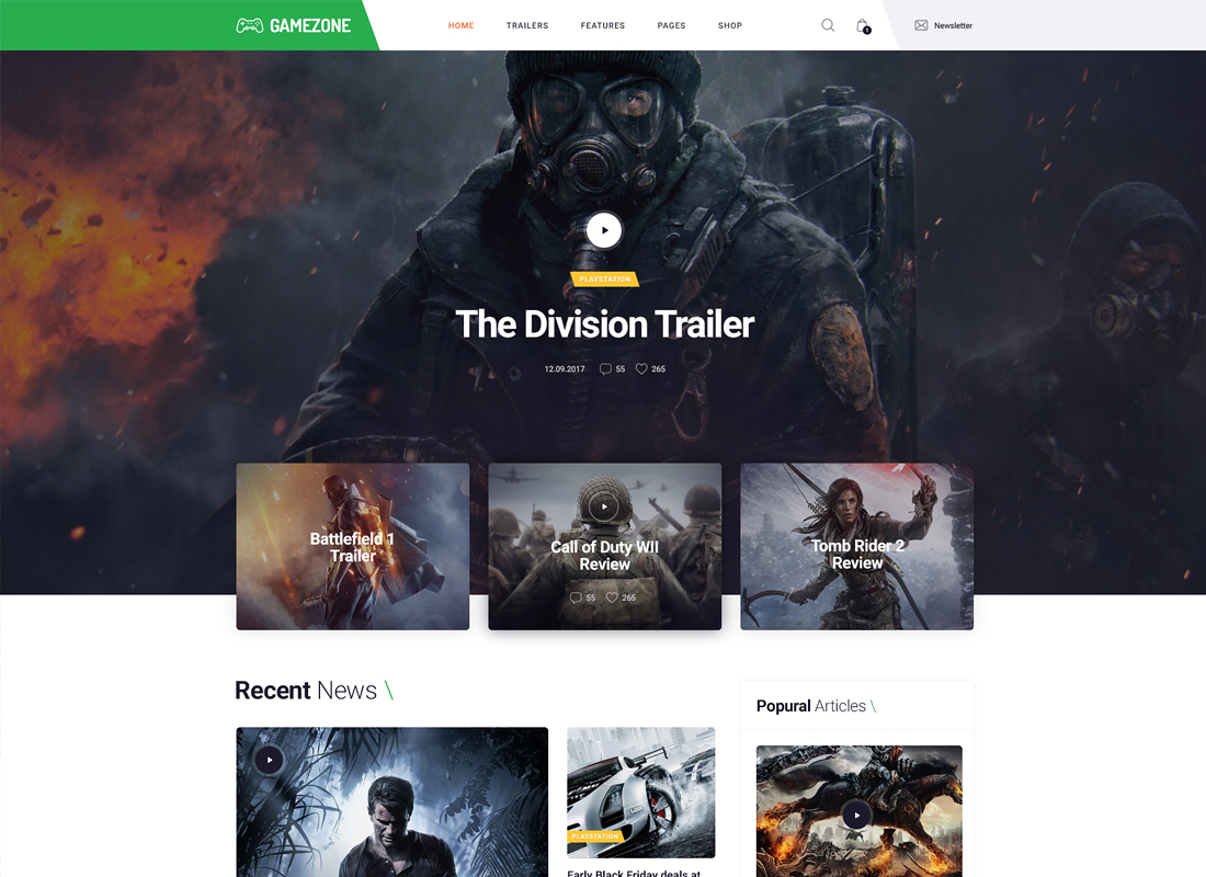 GameZone | Gaming Blog & Store WordPress Theme