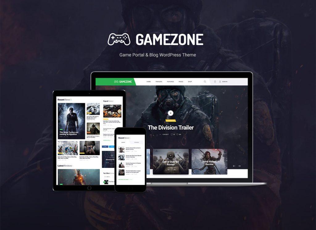 gamezone wordpress theme