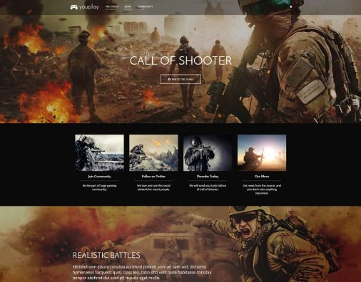 Gaming HTML Website Templates