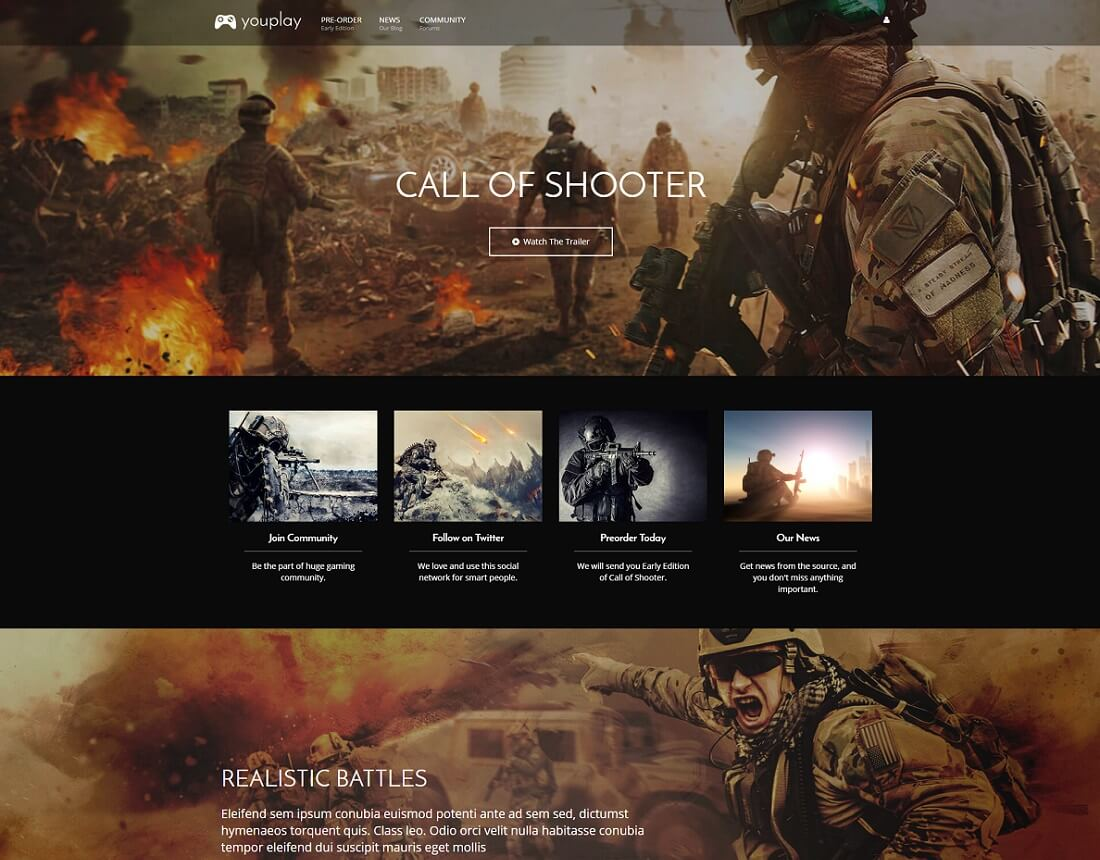 22 Best Gaming HTML Website Templates 2018