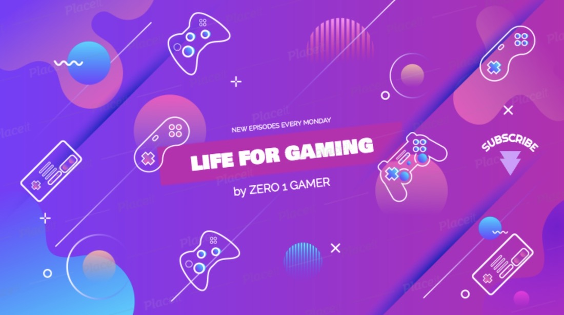 gaming vlog channel banner template