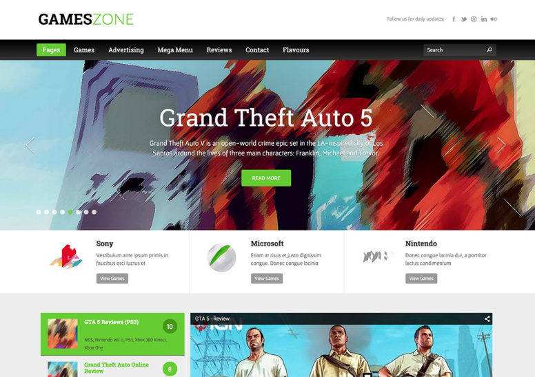 More Than 20 Most Popular Gamer WordPress Themes For Game Magazines, Blogs And Reviews Sites 2017
