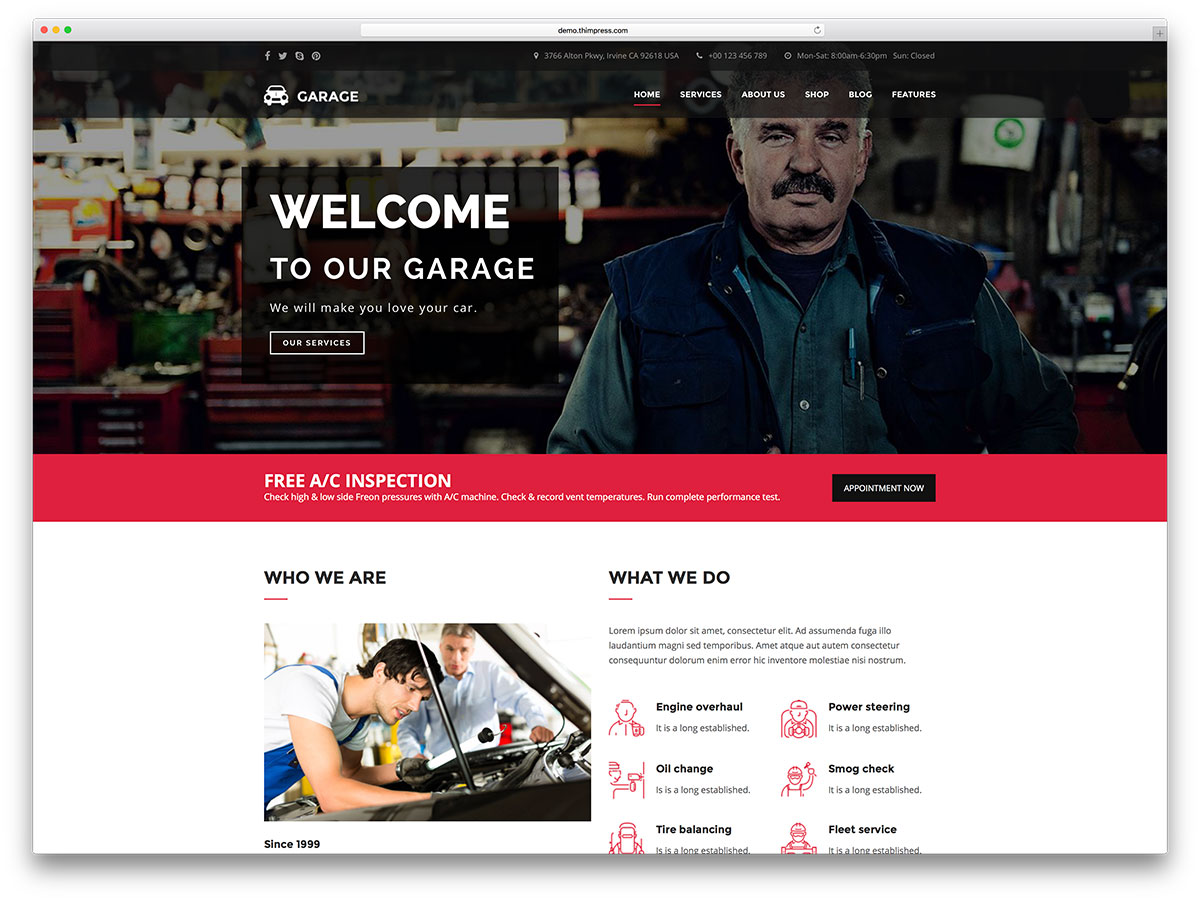 garaj-car-bayi-wordpress-tema