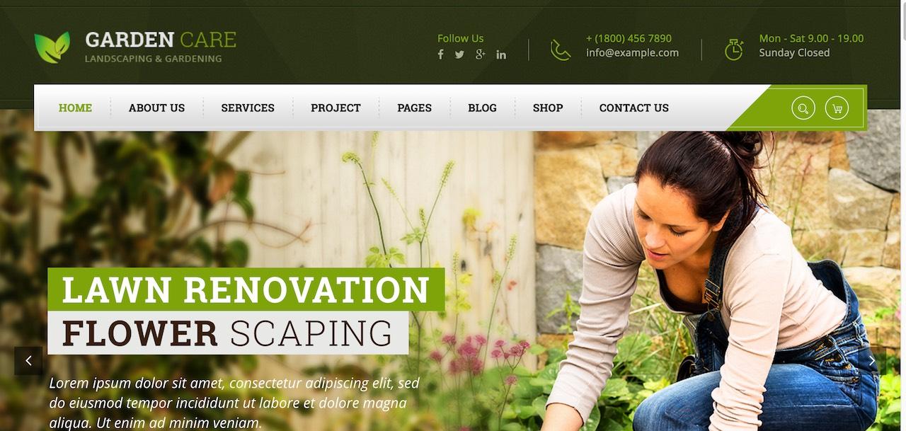 Garden Care website design
