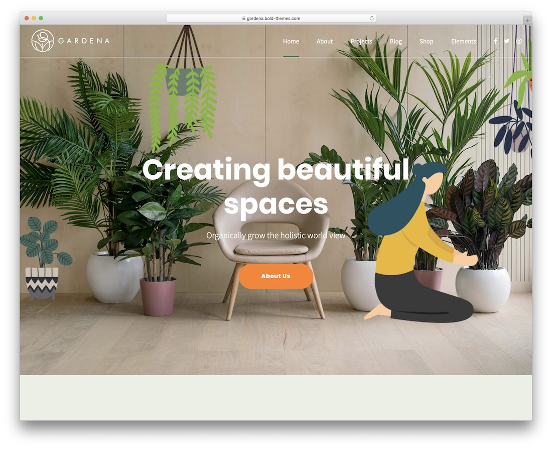 gardena flower website template