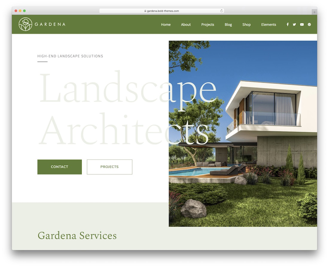 gardena landscaping website template