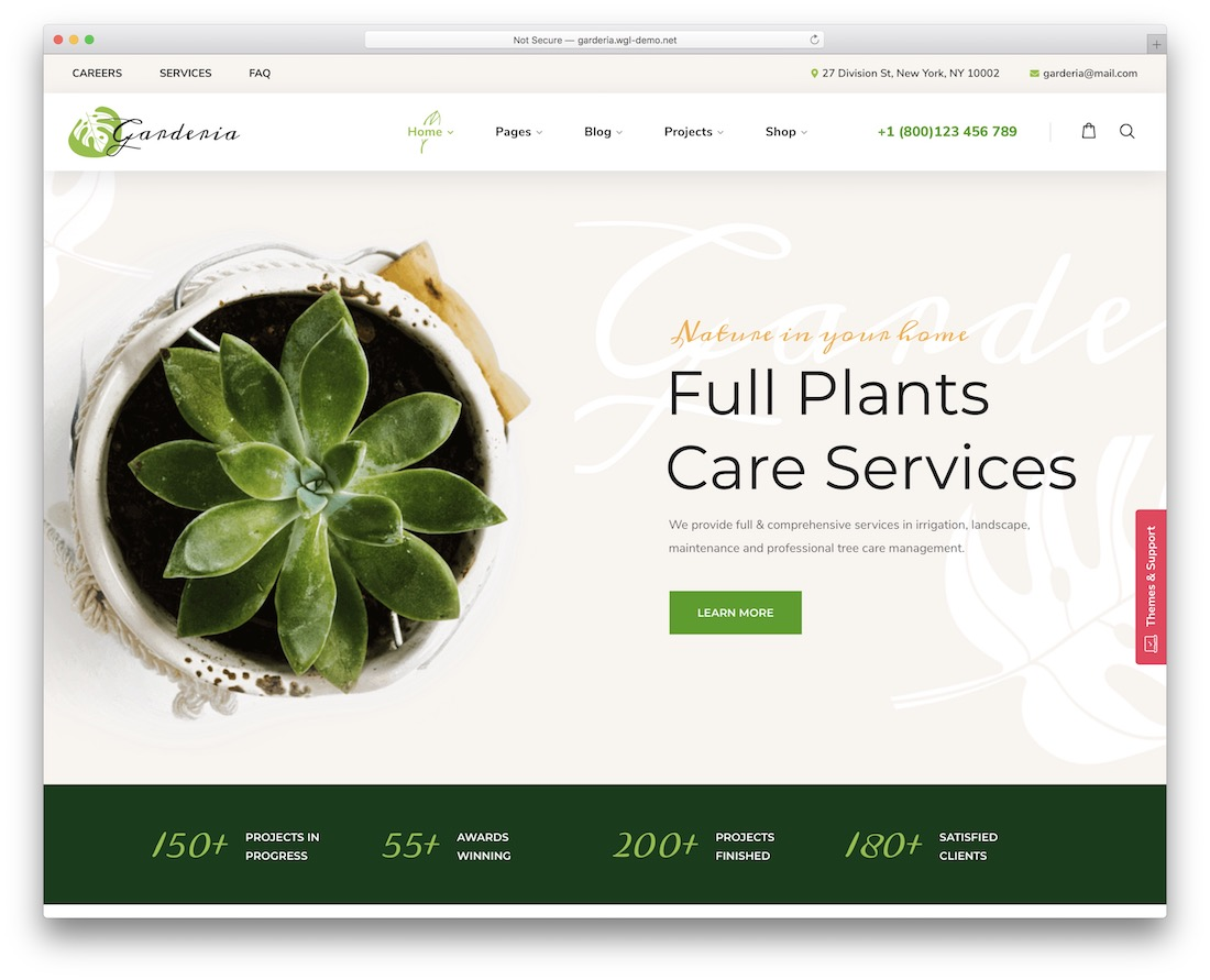 garderia gardening landscaping wordpress theme