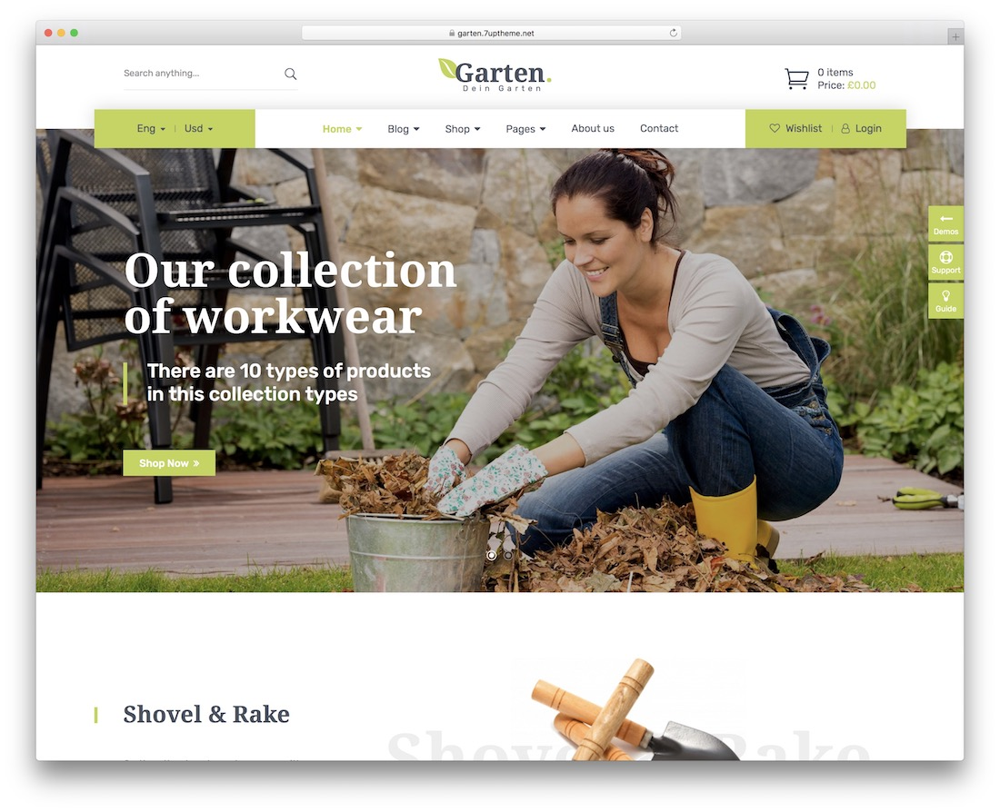 garten landscaping website template