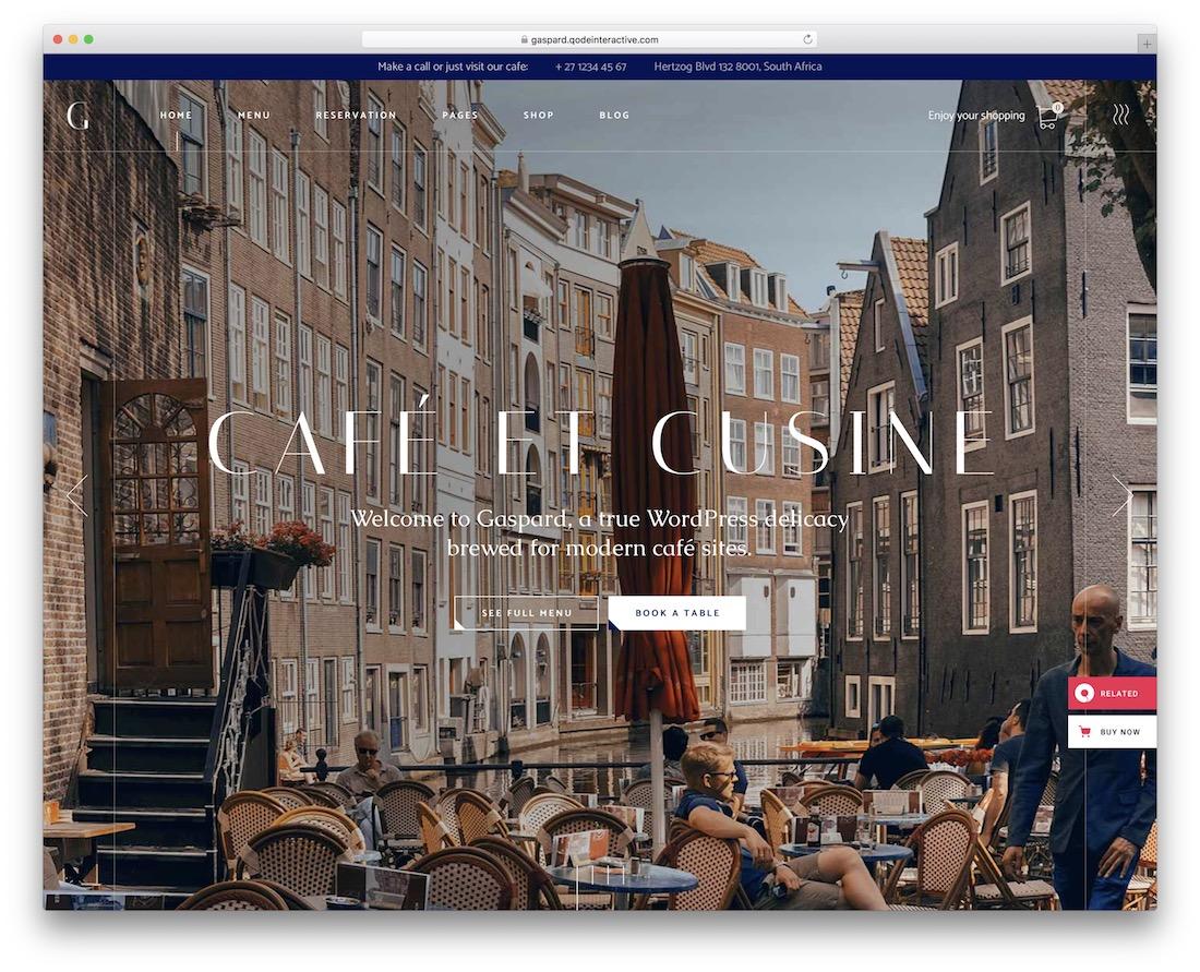 gaspard restaurant website template