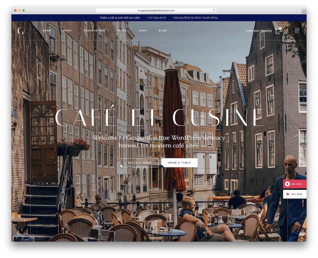 gaspard wordpress restaurant theme