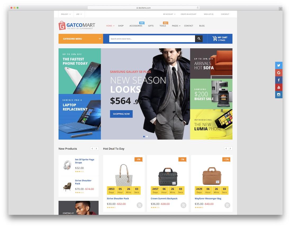 gatcomart fashion website template