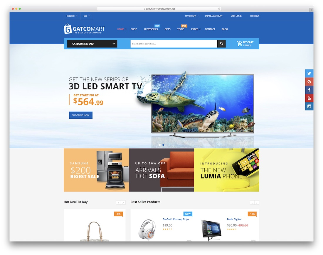 gatcomart ecommerce website template